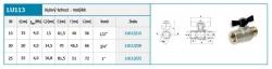 """NOVASERVIS - Luxusný guľový plnoprietokový kohút - motýlik ŠM 3/4"""" (LU113/20), fotografie 4/2"""