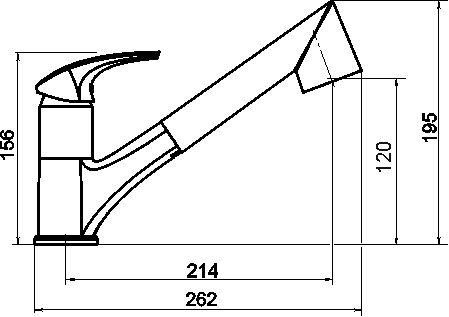 NOVASERVIS - Drezová teleskopická batéria Metalia 57 granit-čierny (57081,GRB)