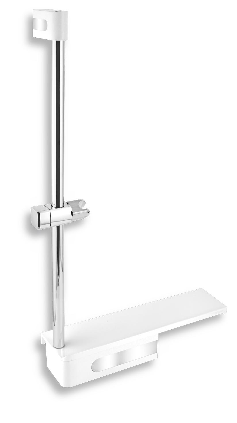 NOVASERVIS - Posuvný držák sprchy s poličkou (65586,4)