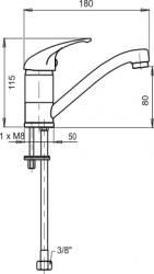 NOVASERVIS - Umývadlová drezová batéria beztlaková Metalia 55 chróm (55097,0), fotografie 2/2