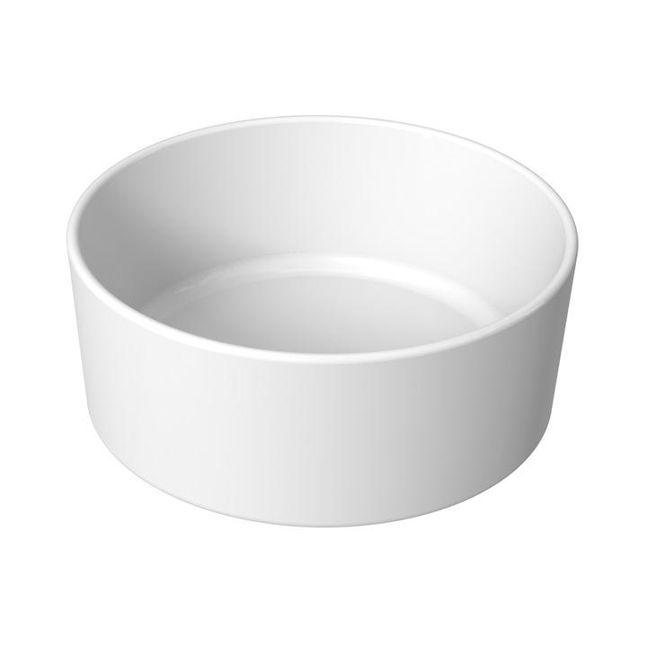 JIKA CUBITO PURE umyvadlová mísa kruhová 40 cm, v.16/19 cm H8184200001121 (H8184200001121)