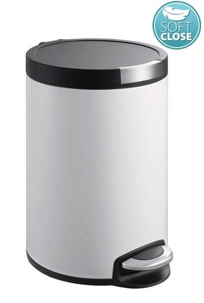 SAPHO SAPHO - ARTISTIC Odpadkový koš s pedálom 20l, Soft Close, biela (DR20W)