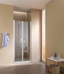 KERMI - Cada XS stříbrná lesk Dvoukřídlé kyvné dveře 1100/2000 čiré sklo s CadaClean CKPTD11020VPK (CKPTD11020VPK)