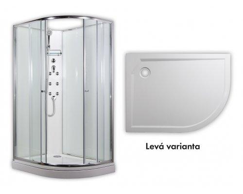 ARTTEC - SIRIUS - masážní sprchový box model 4 chinchila levá (PAN04555)