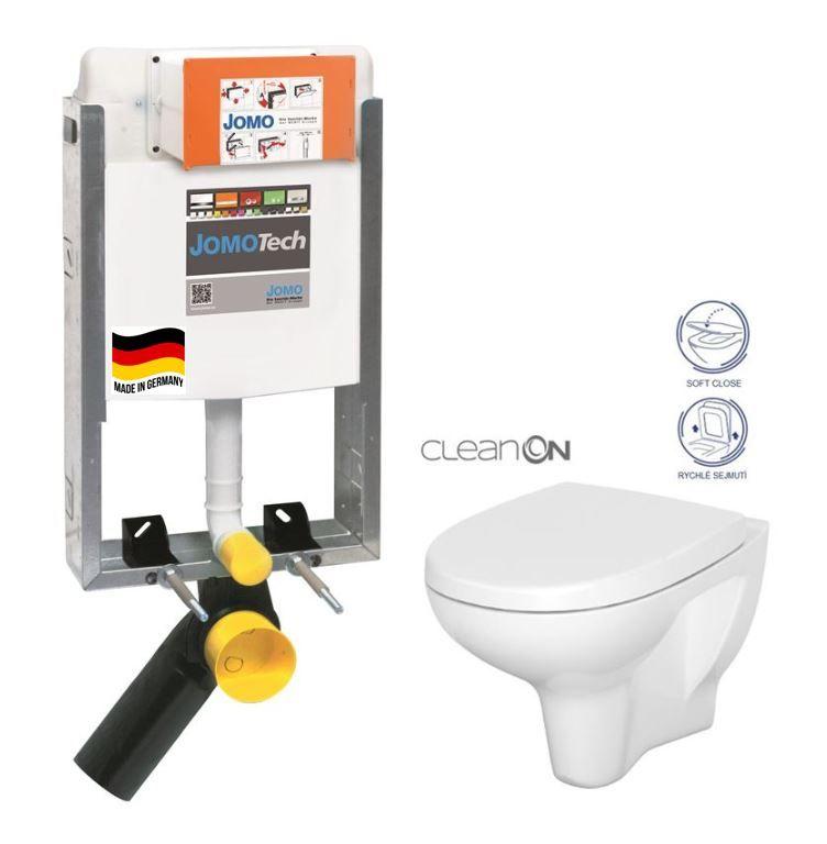 JOMO modul pre zamurovanie bez sedátka + WC CERSANIT ARTECO CLEANON + SEDADLO 164-14600479-00 AT1