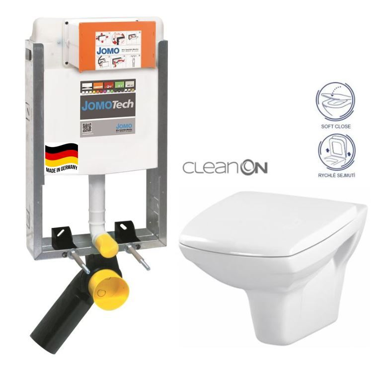 JOMO modul pre zamurovanie bez sedátka + WC CERSANIT CLEANON CARINA + SEDADLO 164-14600479-00 CA2