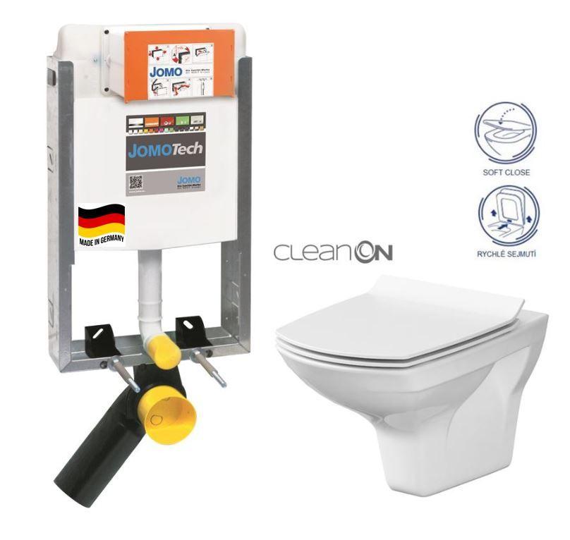 JOMO modul pre zamurovanie bez sedátka + WC CERSANIT CLEANON CARINA + SEDADLO 164-14600479-00 CA3