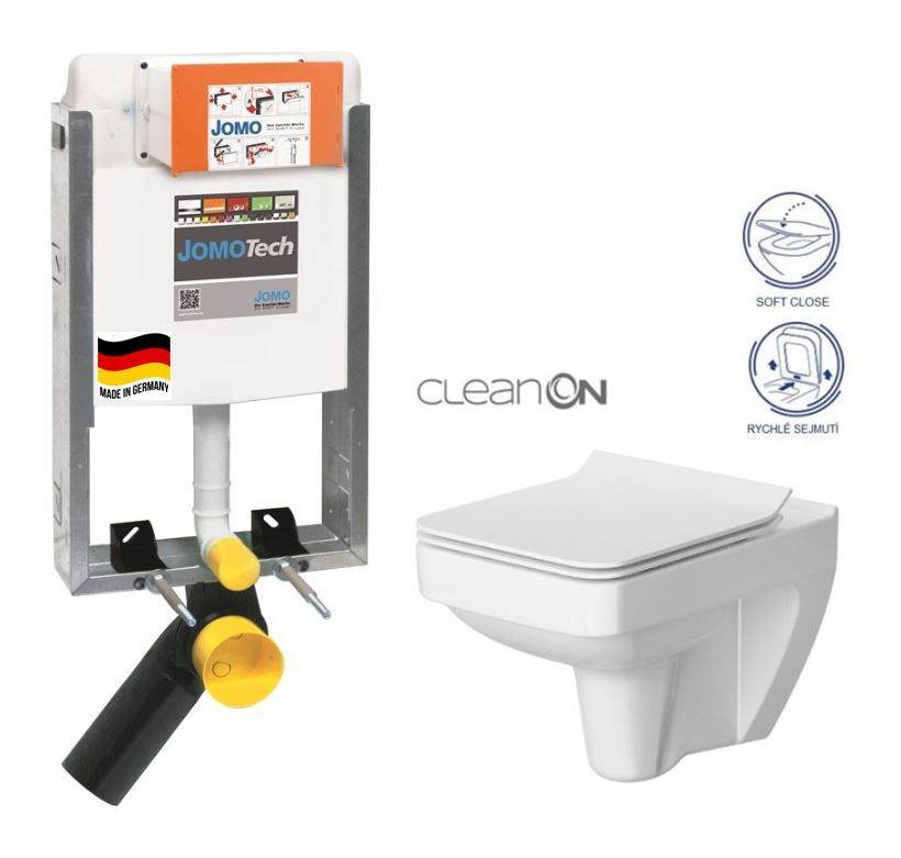 JOMO modul pre zamurovanie bez sedátka + WC CERSANIT CLEANON SPLENDOUR + SEDADLO 164-14600479-00 SP1