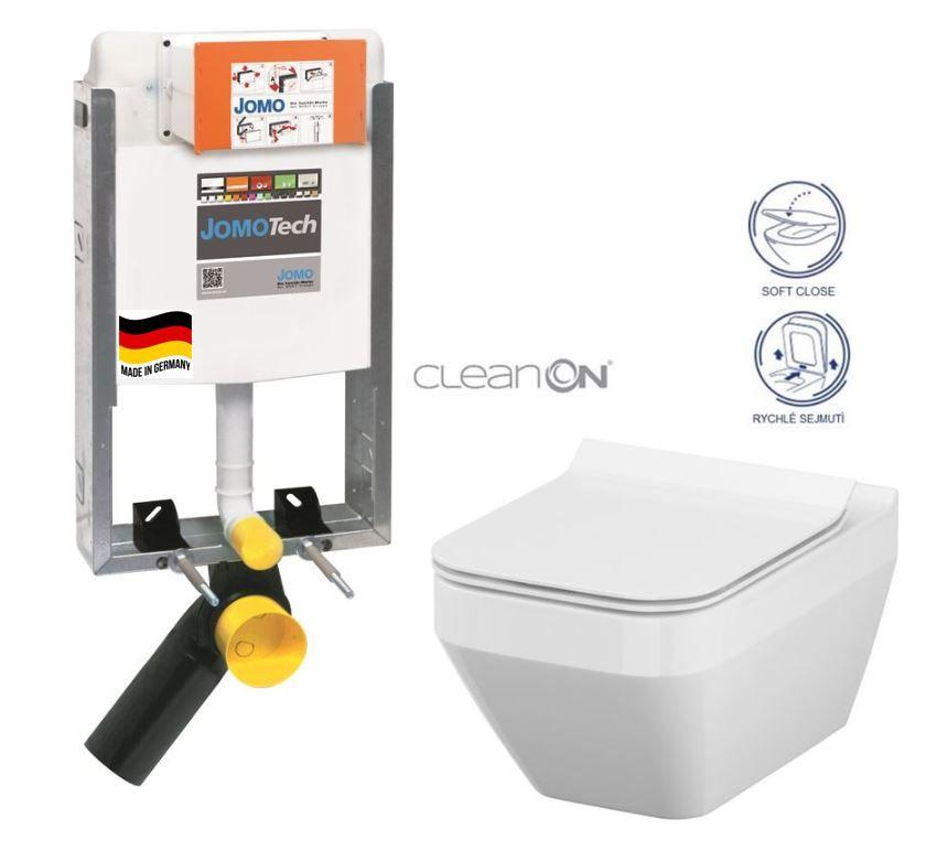 JOMO modul pre zamurovanie bez sedátka + WC CERSANIT CLEANON CREA štvorec + SEDADLO 164-14600479-00 CR2