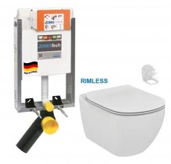 JOMO modul pre zamurovanie bez sedátka + WC Ideal Standard Tesi se sedlem RIMLESS (164-14600479-00 TE2)