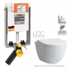 JOMO modul pre zamurovanie bez sedátka + WC LAUFEN PRO LCC RIMLESS + SEDADLO (164-14600479-00 LP2)