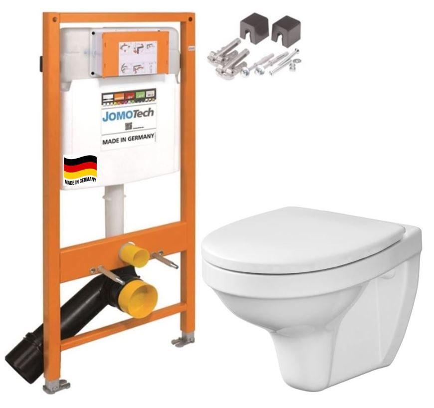 JOMOTech modul pre závesné WC bez sedátka + WC CERSANIT DELFI + SEDADLO 174-91100700-00 DE1