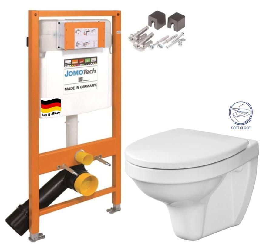 JOMOTech modul pre závesné WC bez sedátka + WC CERSANIT DELFI + SOFT SEDADLO 174-91100700-00 DE2