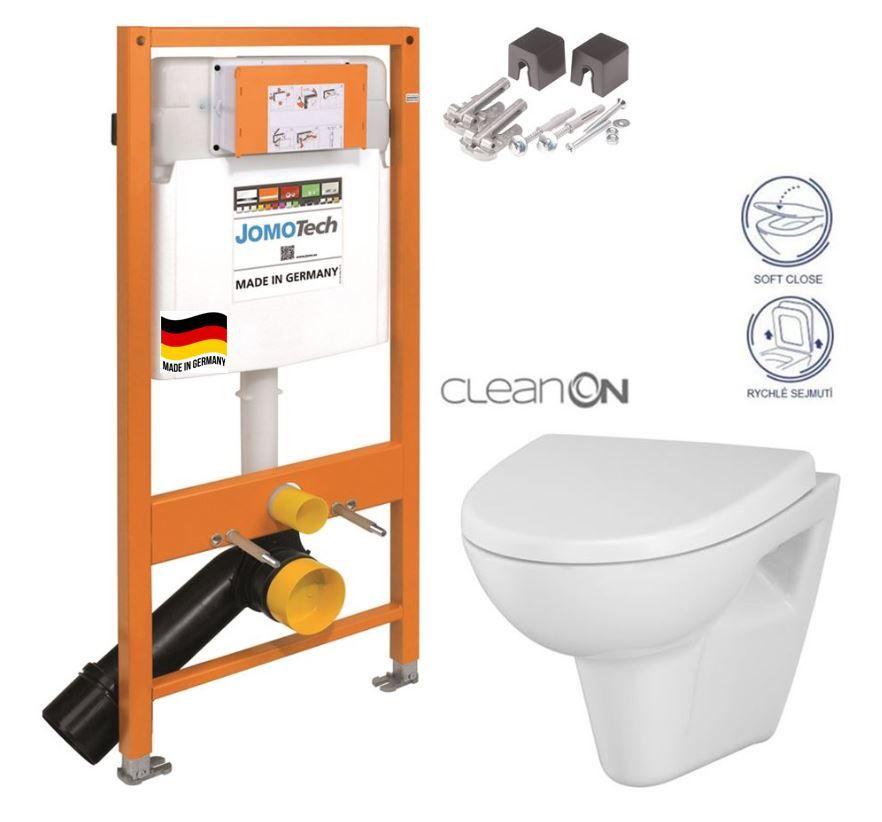 JOMOTech modul pre závesné WC bez sedátka + WC CERSANIT CLEANON PARVA + SEDADLO 174-91100700-00 PA1