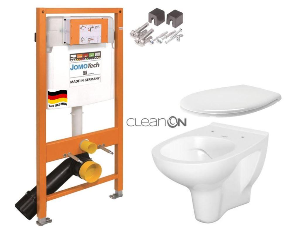 JOMOTech modul pre závesné WC bez sedátka + WC CERSANIT ARTECO CLEANON + SEDADLO 174-91100700-00 AT2