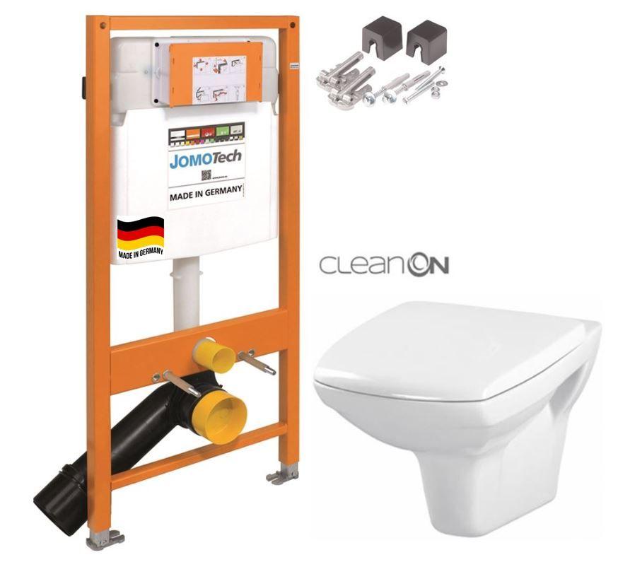 JOMOTech modul pre závesné WC bez sedátka + WC CERSANIT CLEANON CARINA + SEDADLO 174-91100700-00 CA1