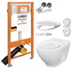 JOMOTech modul pre závesné WC bez sedátka + WC CERSANIT CLEANON MODUO + SEDADLO (174-91100700-00 MO1)