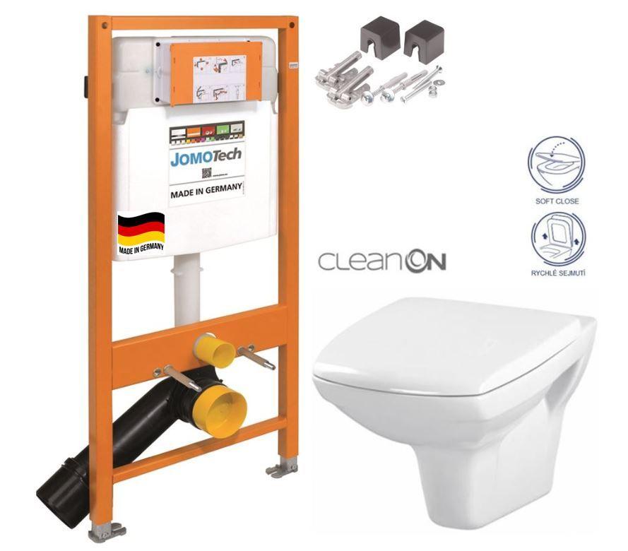 JOMOTech modul pre závesné WC bez sedátka + WC CERSANIT CLEANON CARINA + SEDADLO 174-91100700-00 CA2
