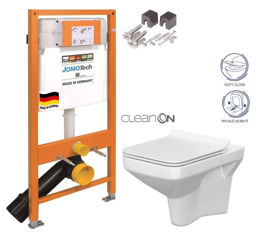 JOMOTech modul pre závesné WC bez sedátka + WC CERSANIT CLEANON COMO + SEDADLO 174-91100700-00 CO1