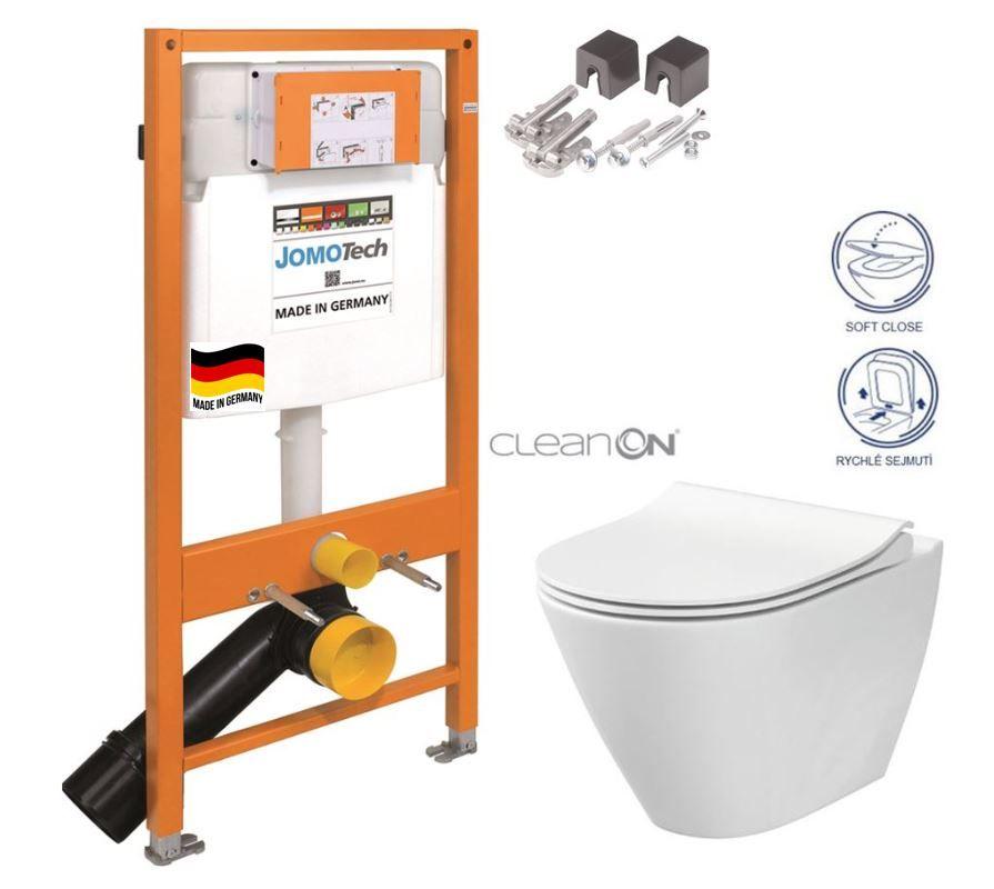 JOMOTech modul pre závesné WC bez sedátka + WC CERSANIT CLEANON CITY 174-91100700-00 CI1