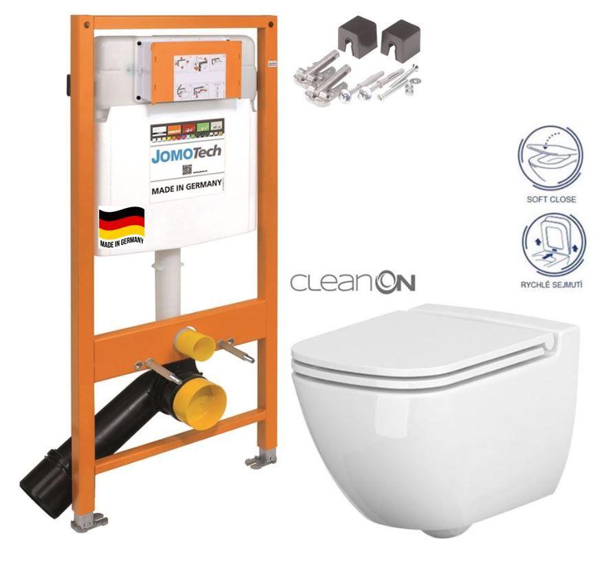 JOMOTech modul pre závesné WC bez sedátka + WC CERSANIT CLEANON CASPIA + SEDADLO 174-91100700-00 CP1