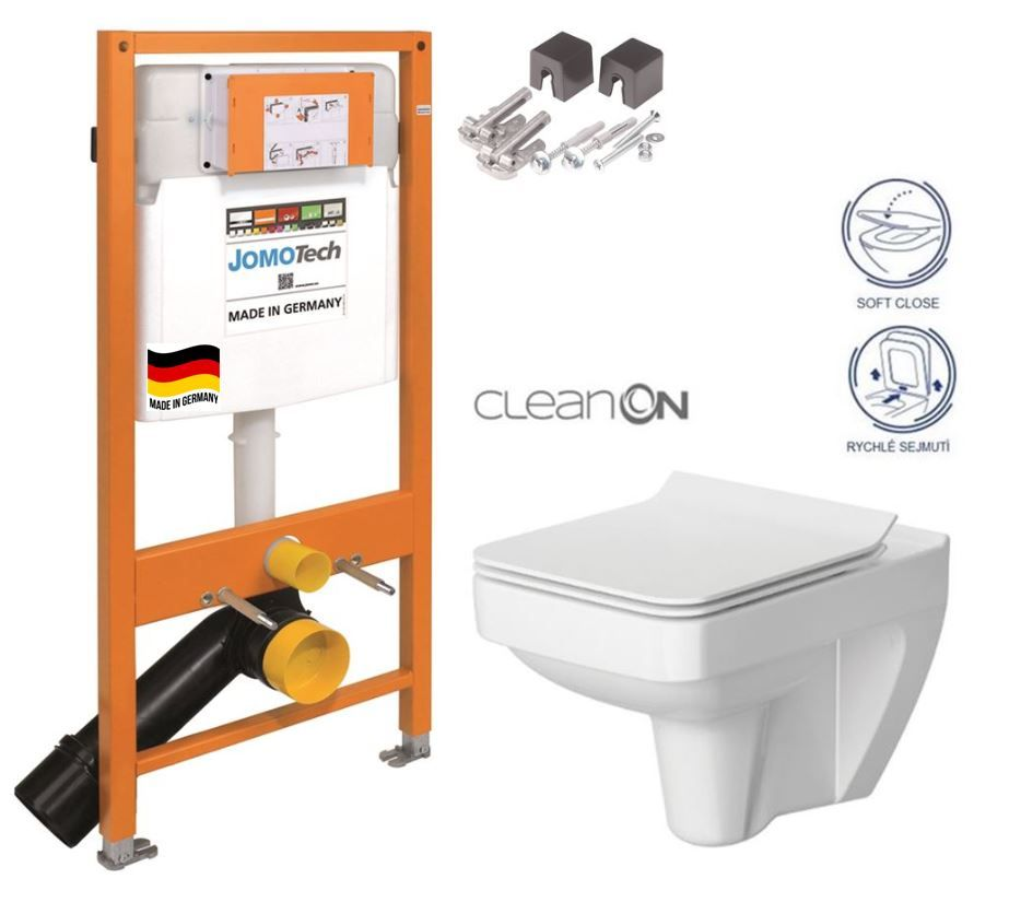 JOMOTech modul pre závesné WC bez sedátka + WC CERSANIT CLEANON SPLENDOUR + SEDADLO 174-91100700-00 SP1