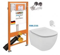 JOMOTech modul pre závesné WC bez sedátka + WC Ideal Standard Tesi se sedlem RIMLESS (174-91100700-00 TE2)