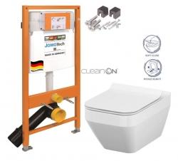 JOMOTech modul pre závesné WC bez sedátka + WC CERSANIT CLEANON CREA štvorec + SEDADLO (174-91100700-00 CR2)