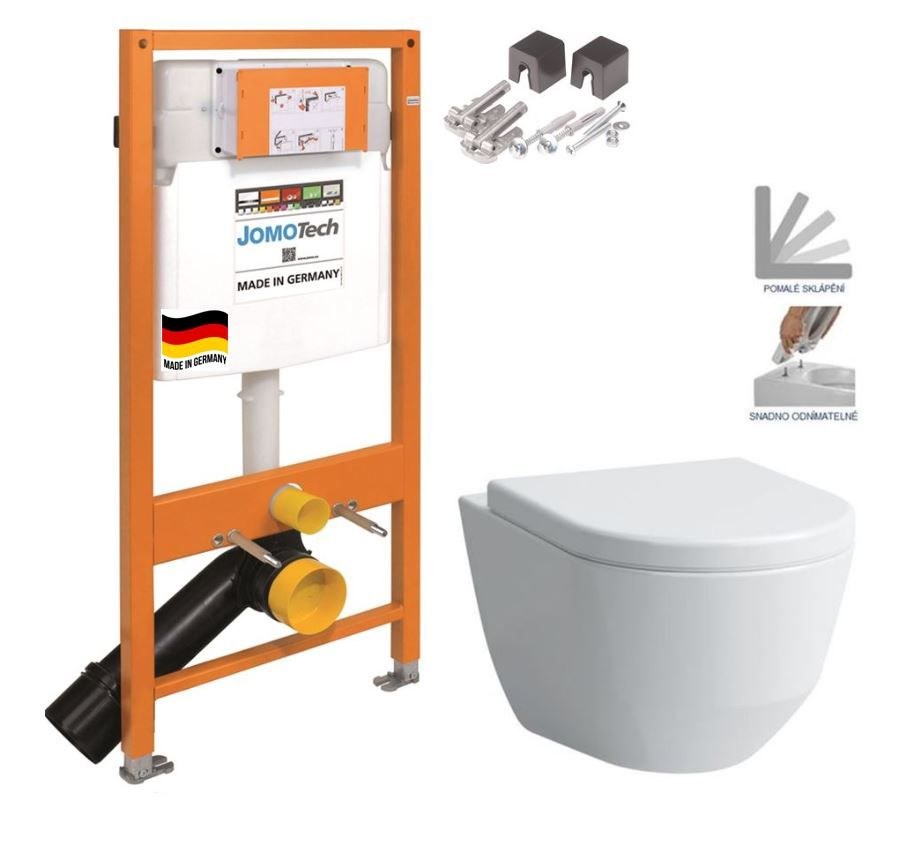 JOMOTech modul pre závesné WC bez sedátka + WC LAUFEN PRO + SEDADLO 174-91100700-00 LP3
