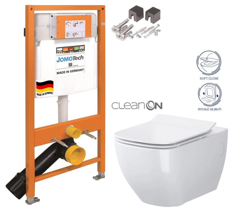 JOMOTech modul pre závesné WC bez sedátka + WC CERSANIT VIRGO CLEANON + SEDADLO 174-91100700-00 ME1