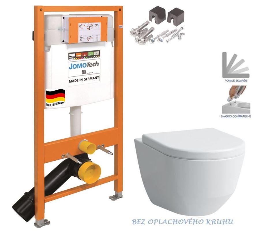 JOMOTech modul pre závesné WC bez sedátka + WC LAUFEN PRO RIMLESS + SEDADLO 174-91100700-00 LP1