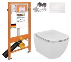 JOMO DUO modul pre závesné WC s bielou doskou + WC Ideal Standard Tesi se sedadlem (174-91100900-00 TE3)