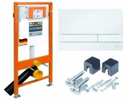 Modul JOMOTech pre závesné WC + ovládacie doska pre duálny spláchnutie + montážna sada (174-91100900-00)