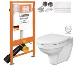 JOMO DUO modul pre závesné WC s bielou doskou + WC CERSANIT DELFI + SOFT SEDADLO (174-91100900-00 DE2)