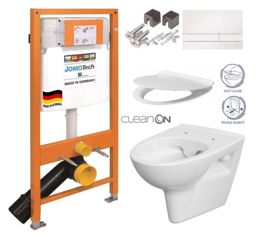JOMOTech modul pre závesné WC s bielou doskou + WC CERSANIT CLEANON PARVA + SEDADLO 174-91100900-00 PA2