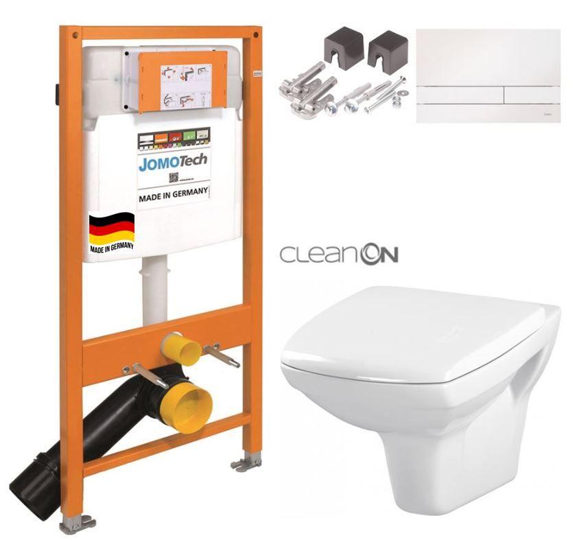 JOMOTech modul pre závesné WC s bielou doskou + WC CERSANIT CLEANON CARINA + SEDADLO 174-91100900-00 CA1