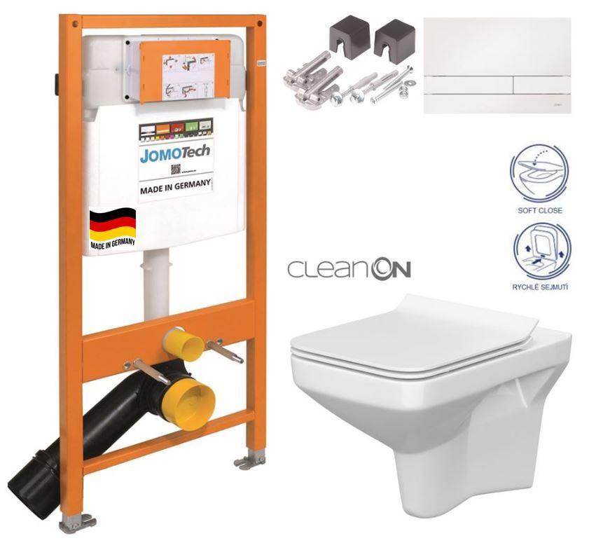 JOMOTech modul pre závesné WC s bielou doskou + WC CERSANIT CLEANON COMO + SEDADLO 174-91100900-00 CO1