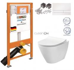 JOMOTech modul pre závesné WC s bielou doskou + WC CERSANIT CLEANON CITY (174-91100900-00 CI1)