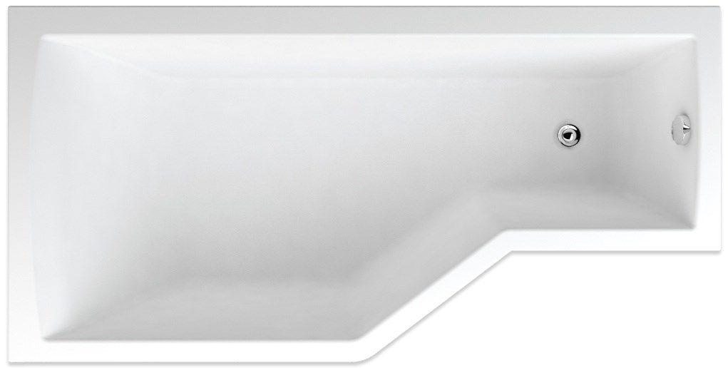TEIKO vaňa obdĺžniková TUBA 160x80 ĽAVÁ Biela 160 x 80 x 45 V117160L04T01001