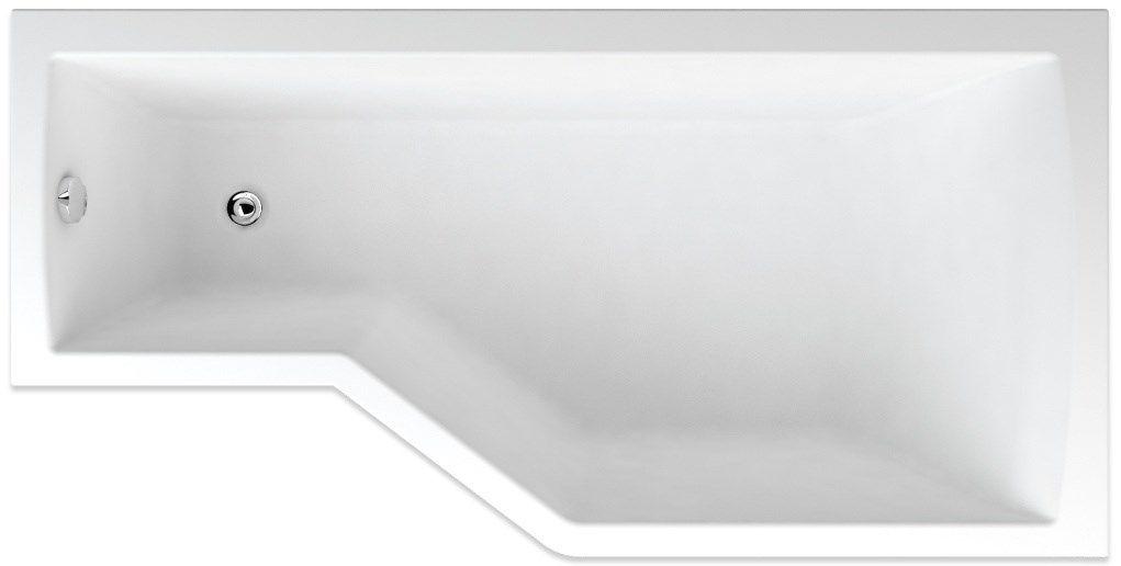 TEIKO vaňa obdĺžniková TUBA 160x80 PRAVÁ Biela 160 x 80 x 45 V117160R04T01001