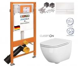 SET JOMO Duofix modul pre závesné WC + tlačidlo + montážna sada + sedadlo + WC CERSANIT CLEANON CASPIA (174-91100900-00 CP1)