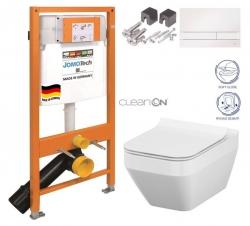 JOMOTech modul pre závesné WC s bielou doskou + WC CERSANIT CLEANON CREA štvorec + SEDADLO (174-91100900-00 CR2)