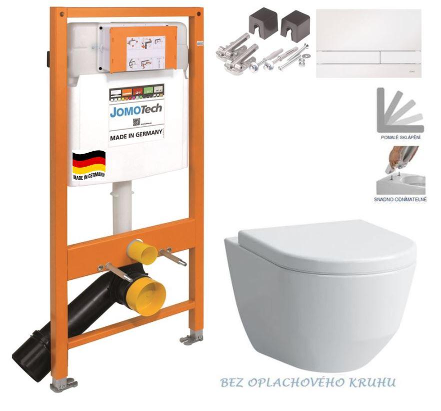 JOMOTech modul pre závesné WC s bielou doskou + WC LAUFEN PRO RIMLESS + SEDADLO 174-91100900-00 LP1