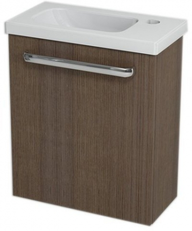 SAPHO - LATUS VII umývadlová skrinka 43,2x50x21,2 cm, borovica rustik + Umývadielko RESORT 45cm (55912-SET)
