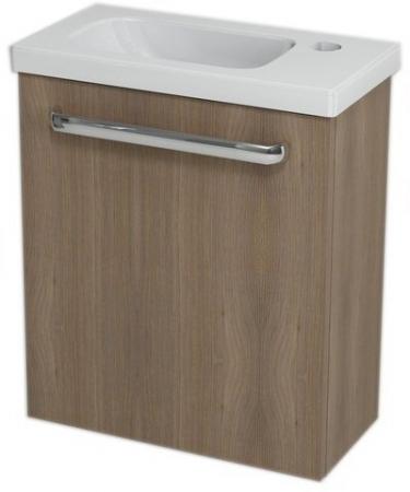 SAPHO - LATUS VII umývadlová skrinka 43,2x50x21,2 cm, orech bruno + Umývadielko RESORT 45cm (55913-SET)