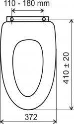 NOVASERVIS - sedátko tvarované drevo (WC/SOFTORECHLY), fotografie 2/2
