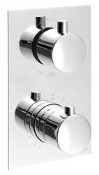 SAPHO - KIMURA Podomietková sprchová termostatická batéria, 3 výstupy, chróm (KU392)