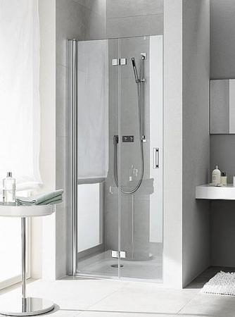 Kermi DIGA kyvné dveře zalamovací 1000/2017, Levá, stříbr.lesk/čiré sklo s KermiClean DI2DL10020VPK (DI2DL10020VPK)