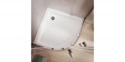 Sprchovací kút štvrťkruh 80 x190, R55, posuv, číre sklo (S154-001), fotografie 8/5