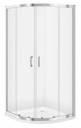 CERSANIT - Sprchovací kút štvrťkruh 80 x190, R55, posuv, číre sklo (S154-001)